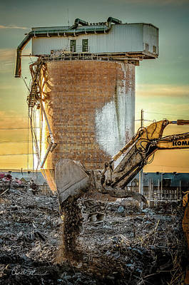 Photograph - Construction Silo by Charlie Duncan