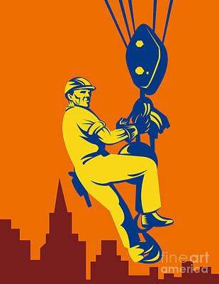 Construction Worker Art Print by Aloysius Patrimonio