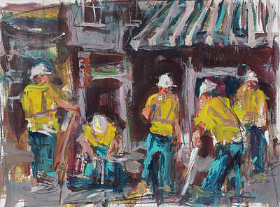 Painting - Construction Workers by Robert Joyner