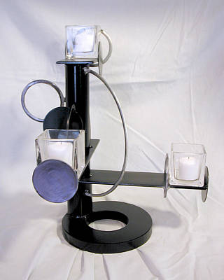 Sculpture - Constructivist Candle Holder Model Two by John Gibbs