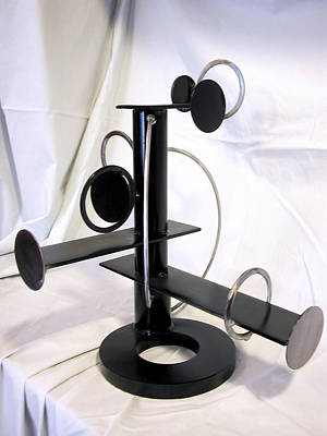 Sculpture - Constructivist Candle Holder Model Two View Without Candles by John Gibbs