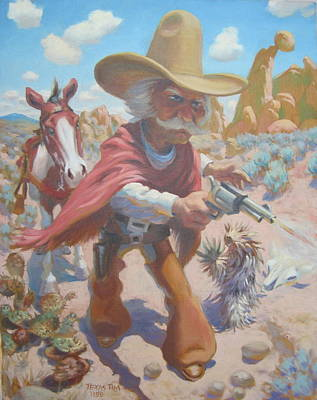 The 2nd Amendment Painting - Constututional Rights by Texas Tim Webb