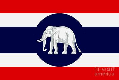 Digital Art - Consular Flag Of Thailand by Ian Gledhill