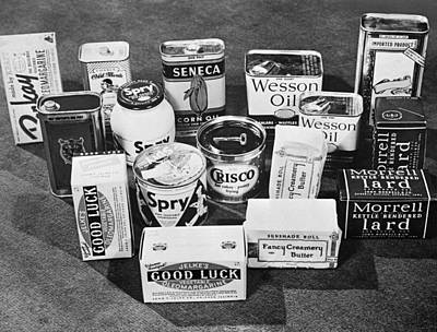 Vegetable Oil Photograph - Consumer Cooking Oils by Alfred Palmer
