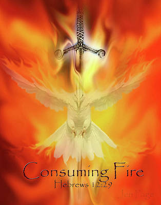Digital Art - Consuming Fire by Jennifer Page