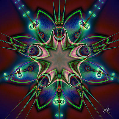 Silver Turquoise Digital Art - Contact by Kiki Art
