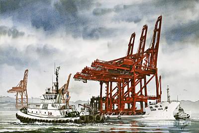 Container Cranes Tug Assist Original by James Williamson