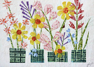 Mixed Media - Container Garden by Janyce Boynton