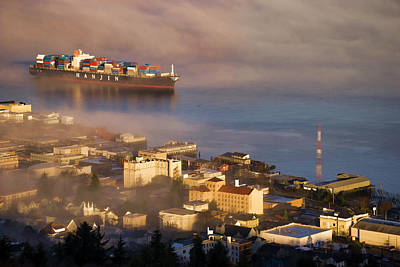 Photograph - Container Ship by Robert Potts