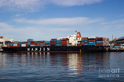 Photograph - Container Ship by Suzanne Luft