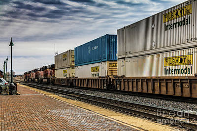 Photograph - Container Train by Thomas Marchessault