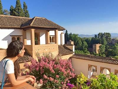 Senorita Photograph - Contemplating Granada by Julie Pacheco-Toye