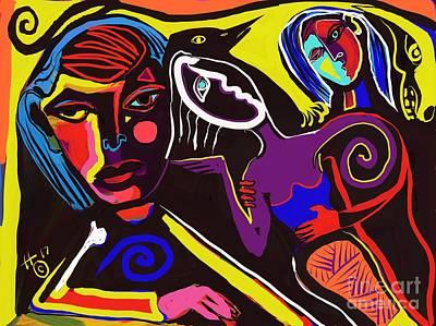 Digital Art - Contemplating by Hans Magden