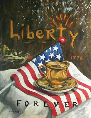 Contemplating Liberty Art Print by Cheryl Pass