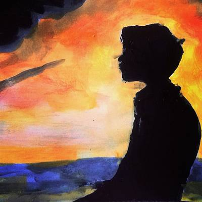 Love Painting - Contemplating On Your Love by Love Art Wonders By God