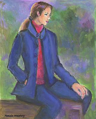 Painting - Contemplating by Pamela Weisberg