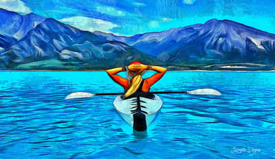 Freedom Painting - Contemplating The Paradise - Pa by Leonardo Digenio