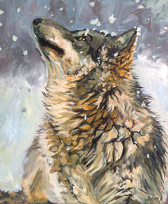 Art Print featuring the painting Contemplating The Snow by Koro Arandia