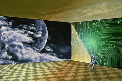 Digital Art - Contemplating Tomorrow by John Haldane