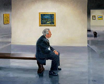 Contemplating Van Gogh Original by Lou Spina