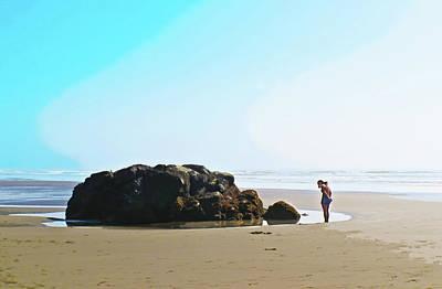 Photograph - Contemplation At Moon Stone Bay by Susan Vineyard