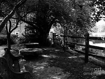 Photograph - Contemplation At Red Mill - Black/white by Jacqueline M Lewis