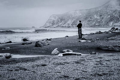 Photograph - Contemplation - Beach - California by Nikolyn McDonald