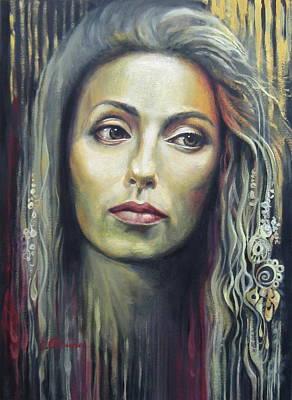 Eyes Mixed Media - Contemplation by Elena Oleniuc