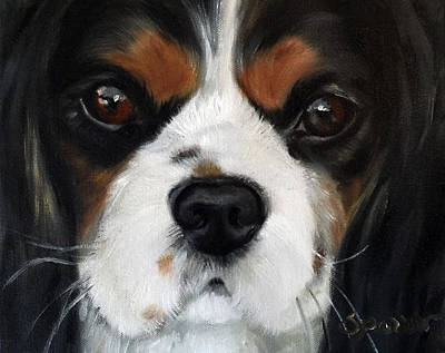 Dog Close-up Painting - Contemplation by Mary Sparrow