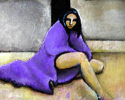 Painting - Contemplation In Purple by Frank Botello