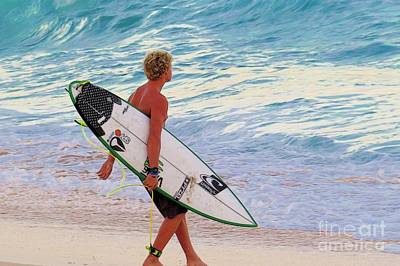 Triple Crown Of Surfing Photograph - Contemplation - Johnjohn Florence by Scott Cameron