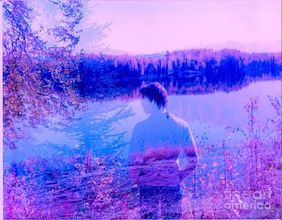 Cargo Boats Rights Managed Images - Contemplation Royalty-Free Image by Kasha Baxter