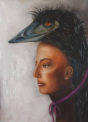 Emu Painting - Contemplation by Leah Saulnier The Painting Maniac