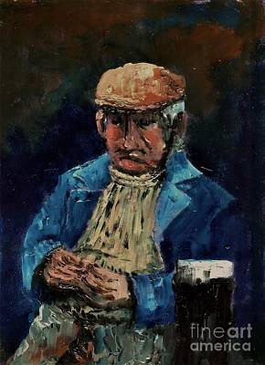 Painting - Irish Yoga ...contemplation Of The Pint by Val Byrne