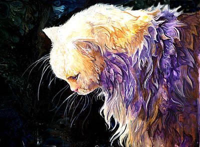 Art Print featuring the painting Contemplation by Sherry Shipley