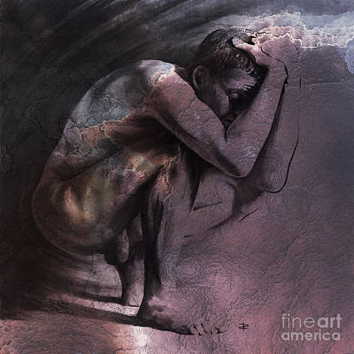 Drawing - Contemplation, Textured by Paul Davenport