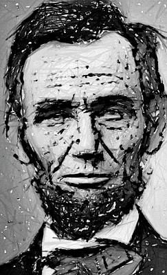 Contemplative Abe Lincoln Art Print