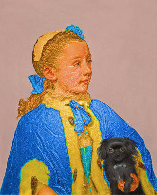 Digital Art - Contemporary 4 Liotard by David Bridburg