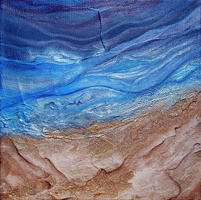 Painting - Contemporary Beach Deeper by Holly Anderson