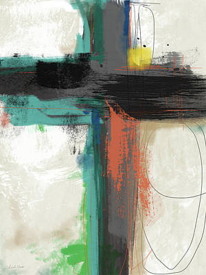 Contemporary Cross 2- Art By Linda Woods Art Print