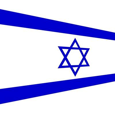 Photograph - Contemporary Flag Of Israel by Florene Welebny
