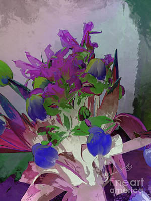 Thomas Kinkade - Contemporary Floral by Susan  Lipschutz