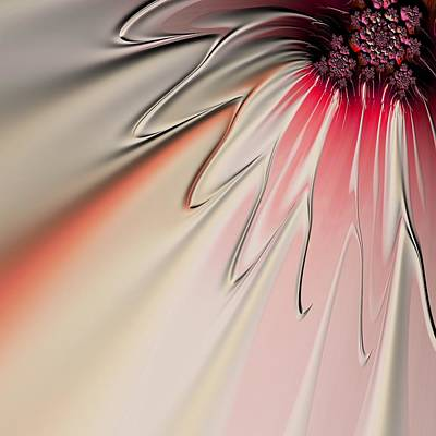 Contemporary Abstract Digital Art - Contemporary Flower by Bonnie Bruno