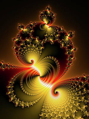 Photograph - Contemporary Fractal Art Glossy And Luxe Vertical by Matthias Hauser