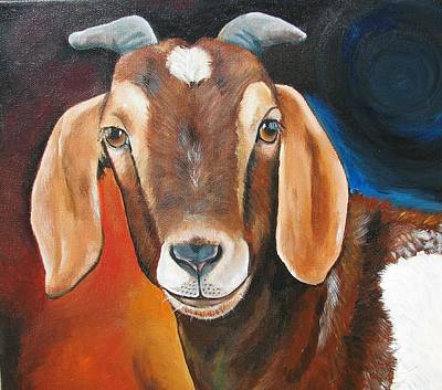 Contemporary Goat Art Print by Laura Carey