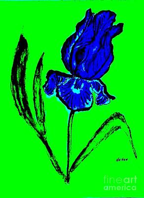 Contemporary Iris Art Print