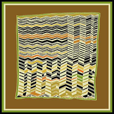 Digital Art - Contemporary Kuba Cloth by Vagabond Folk Art - Virginia Vivier