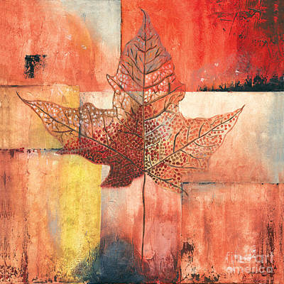 Seasonal Painting - Contemporary Leaf 2 by Debbie DeWitt