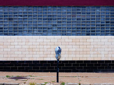 Photograph - Contemporary Minimal Photography Print. Parking Meter. by Dylan Murphy