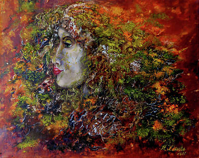 Contemporary Painting Forest Spirit Art Print